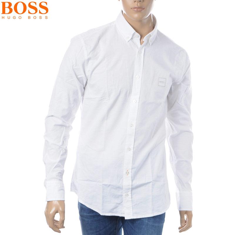 ボス ヒューゴボス BOSS HUGO BOSS オックスフォードシャツ 長袖 メンズ 50392246 ホワイト 2019春夏新作