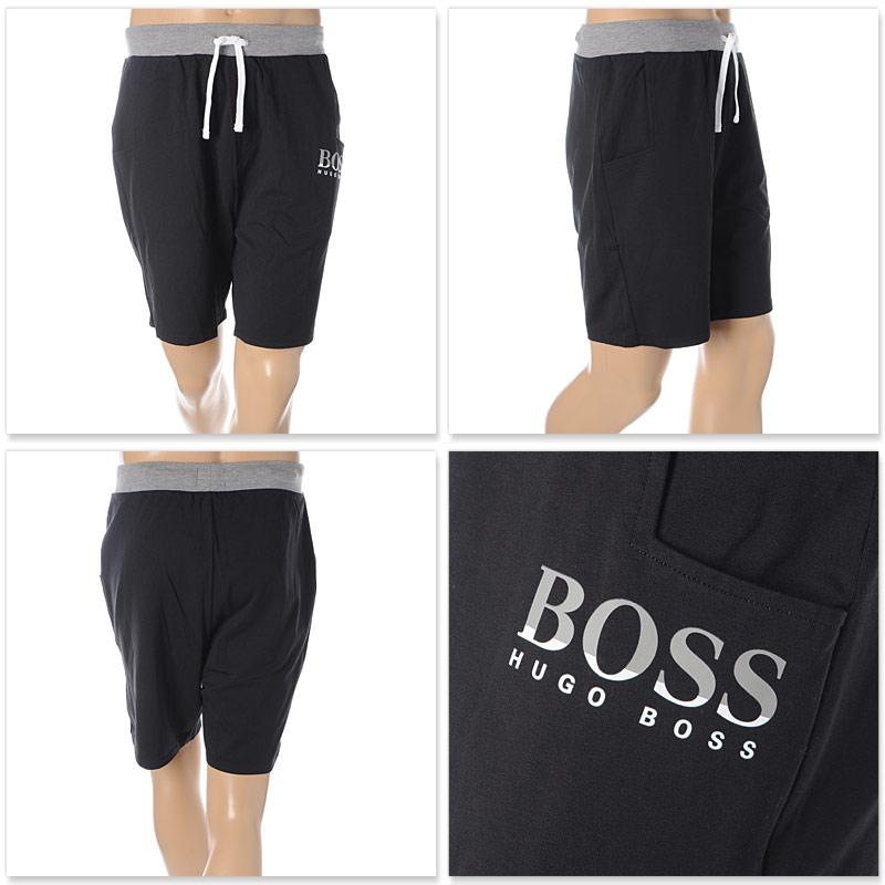 ボス ヒューゴボス BOSS HUGO BOSS ハーフパンツ ショートパンツ スウェット メンズ 50425668 10224546 ブラック 2020春夏新作n0wOkP