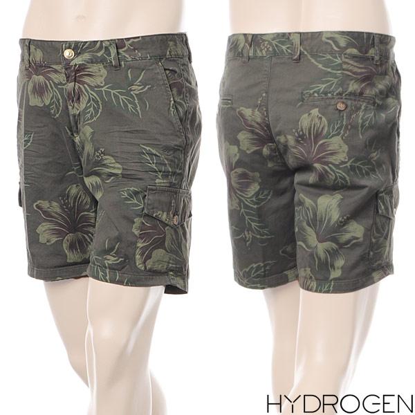 ハイドロゲン HYDROGEN メンズショートパンツ/ハーフパンツ/フラワー柄×カーキ/160512