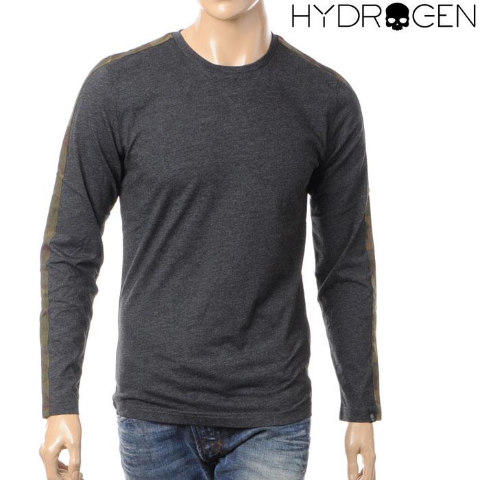 ハイドロゲン HYDROGEN メンズ長袖Tシャツ/ロンT/チャコール/170619
