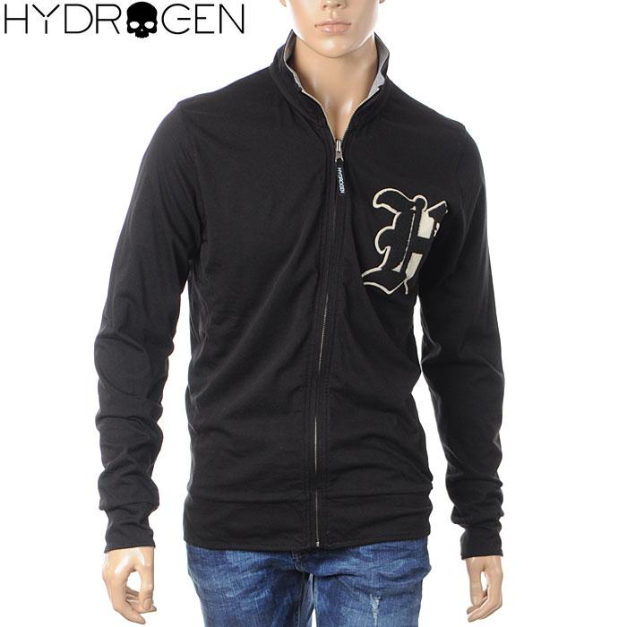 ハイドロゲン HYDROGEN リバーシブルジップアップスウェット メンズ 190680 ブラック グレー