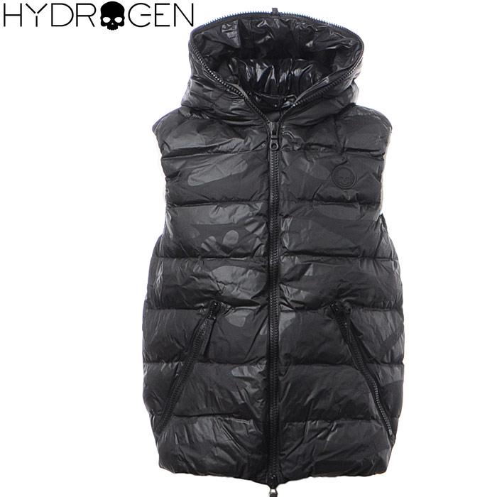 ハイドロゲン HYDROGEN ダウンベスト メンズ アウター 21D002 ブラック