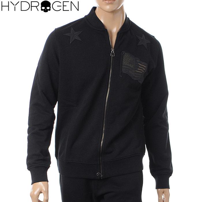 ハイドロゲン HYDROGEN ジップアップスウェット メンズ 215112 ブラック