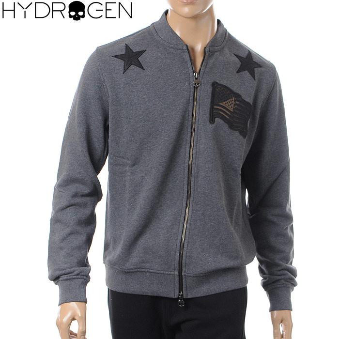 ハイドロゲン HYDROGEN ジップアップスウェット メンズ 215112 チャコール