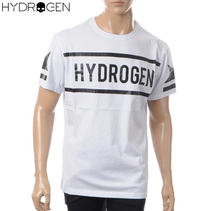 ハイドロゲン HYDROGEN クルーネックTシャツ 半袖 メンズ 225611 ホワイト