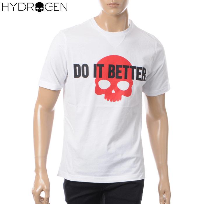 ハイドロゲン HYDROGEN クルーネックTシャツ 半袖 メンズ 220616 ホワイト