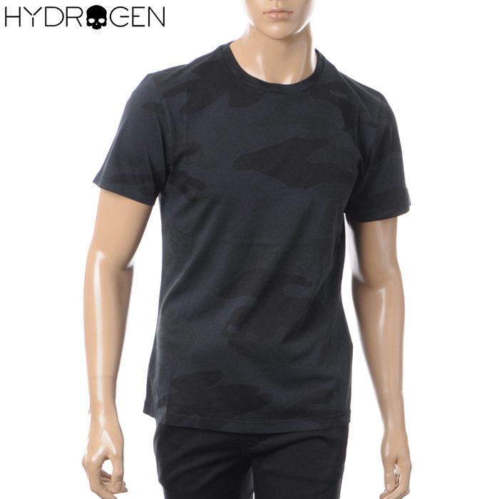 ハイドロゲン HYDROGEN クルーネックTシャツ 半袖 メンズ 220008 ブラックカモフラ 2018春夏セール