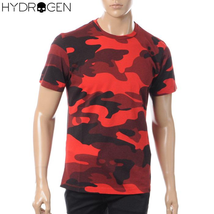 ハイドロゲン HYDROGEN クルーネックTシャツ 半袖 メンズ 220008 レッドカモフラ 2018春夏セール