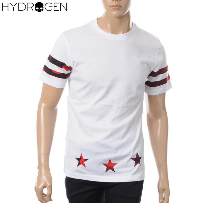 ハイドロゲン HYDROGEN クルーネックTシャツ 半袖 メンズ 220010 ホワイト 2018春夏セール
