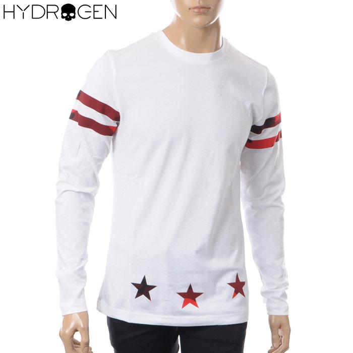 ハイドロゲン HYDROGEN クルーネックTシャツ 長袖 メンズ 220011 ホワイト