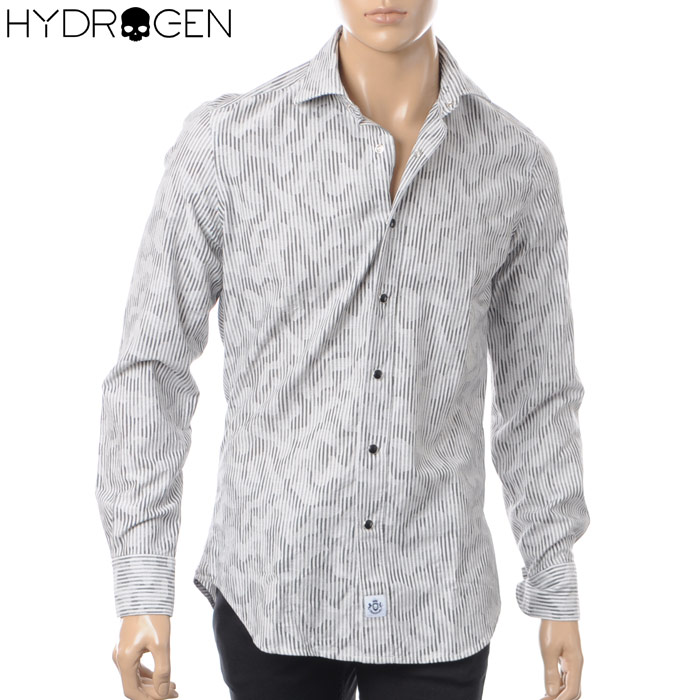 ハイドロゲン HYDROGEN カジュアルシャツ 長袖 メンズ 220400 グレーカモフラ