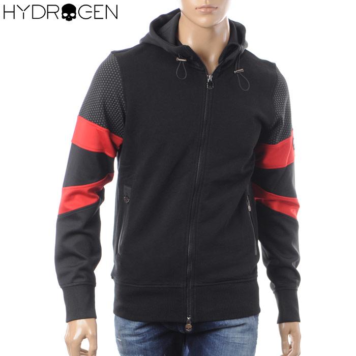 ハイドロゲン HYDROGEN ジップアップパーカー スウェット メンズ 225600 ブラック 2018春夏セール