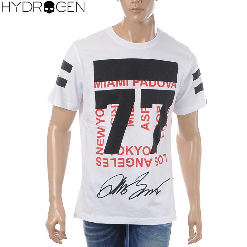 ハイドロゲン HYDROGEN クルーネックTシャツ 半袖 メンズ 240628 ホワイト