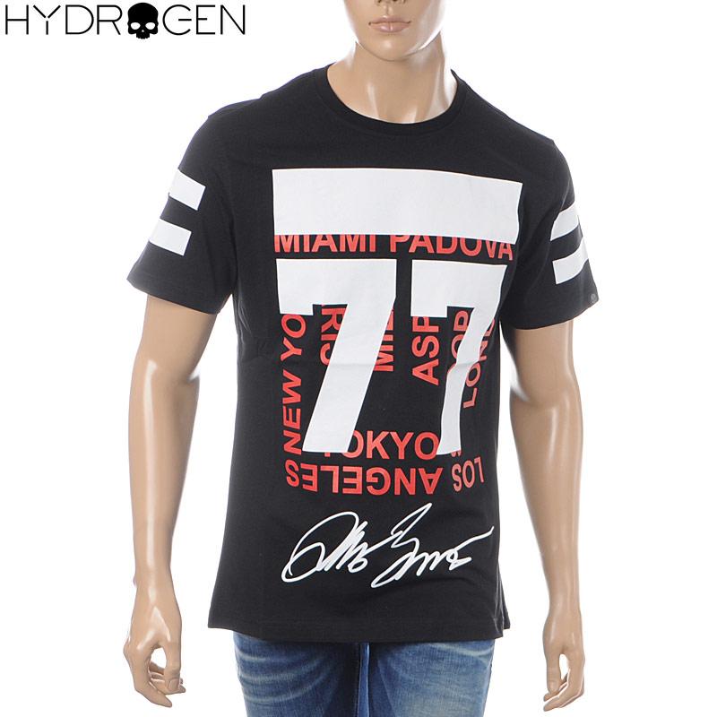 ハイドロゲン HYDROGEN クルーネックTシャツ 半袖 メンズ 240628 ブラック