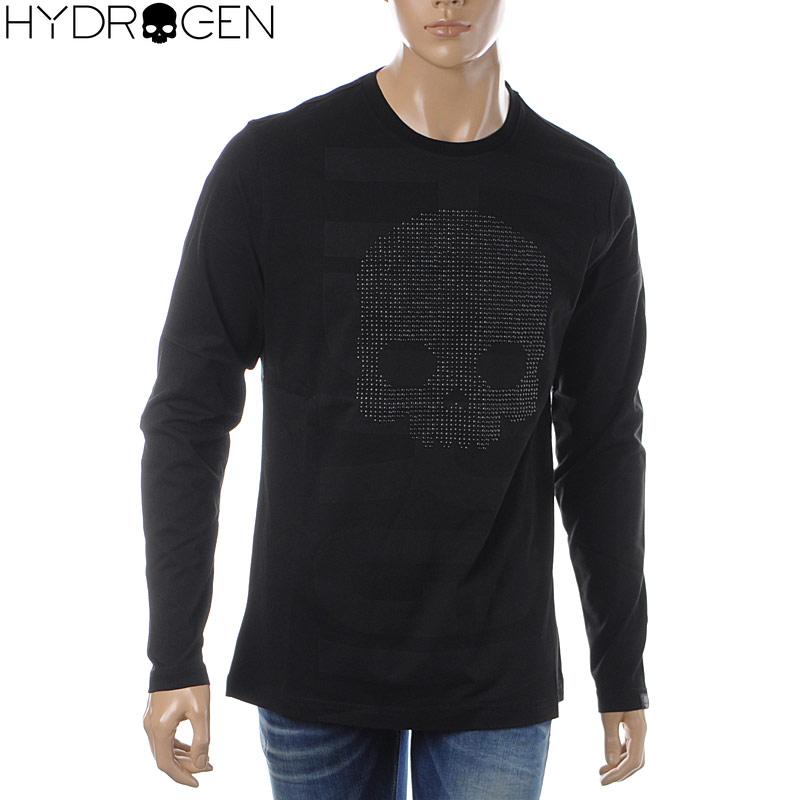 ハイドロゲン HYDROGEN クルーネックTシャツ 長袖 メンズ 240627 ブラック