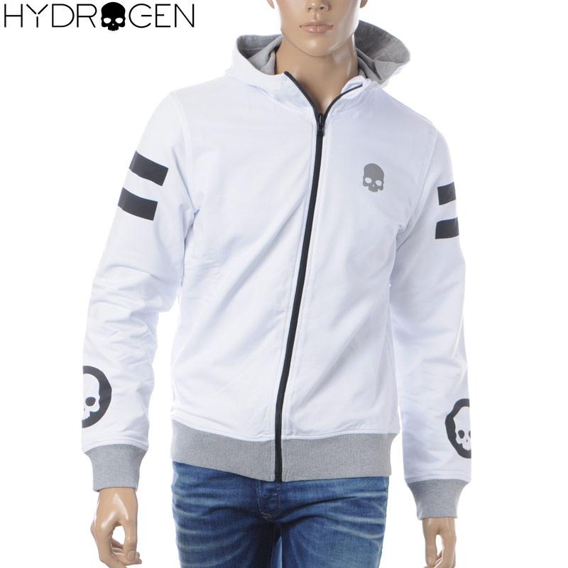 ハイドロゲン HYDROGEN ジップアップパーカー メンズ 240634 ホワイト グレー