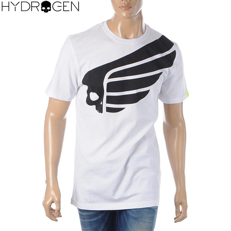ハイドロゲン HYDROGEN クルーネックTシャツ メンズ 半袖 FAST SKULL 265608 ホワイト 2020春夏新作