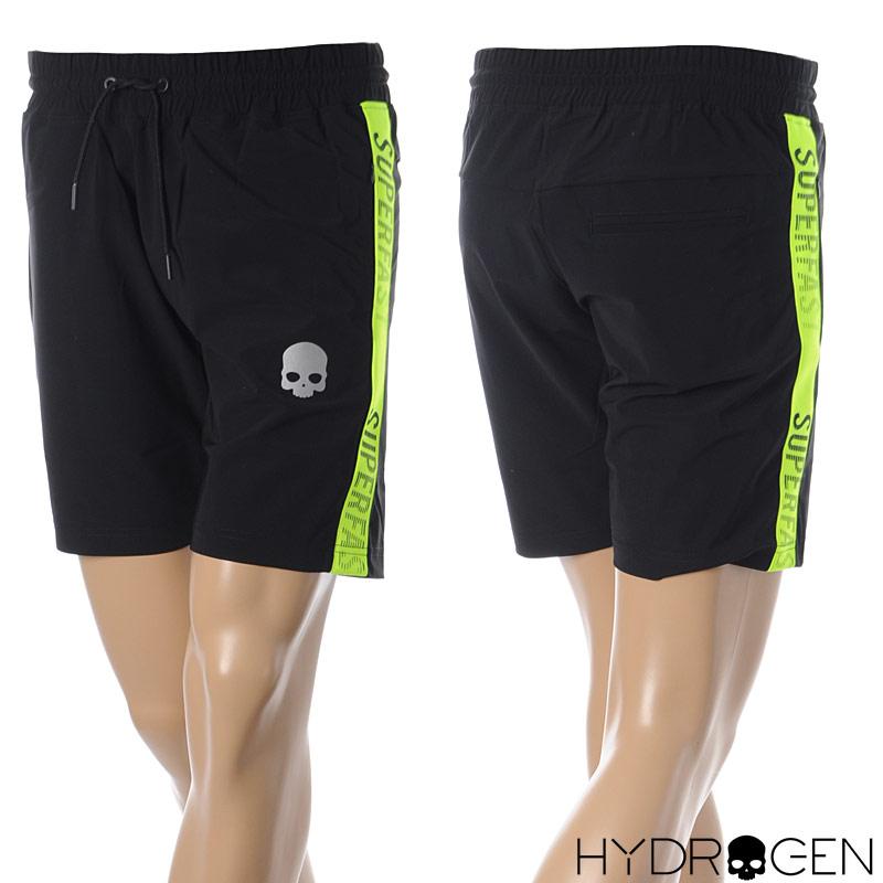 ハイドロゲン HYDROGEN ショートパンツ スウェット メンズ SUPER FAST PANTS 265106 ブラック 2020春夏新作