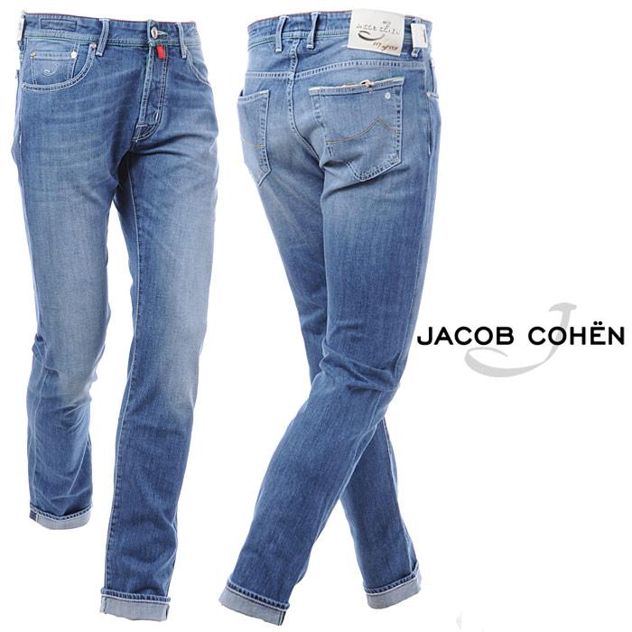 ヤコブコーエン JACOB COHEN ボタンフライジーンズ デニム メンズ J688 LIMITED COMF 140W3 ウォッシュドブルー