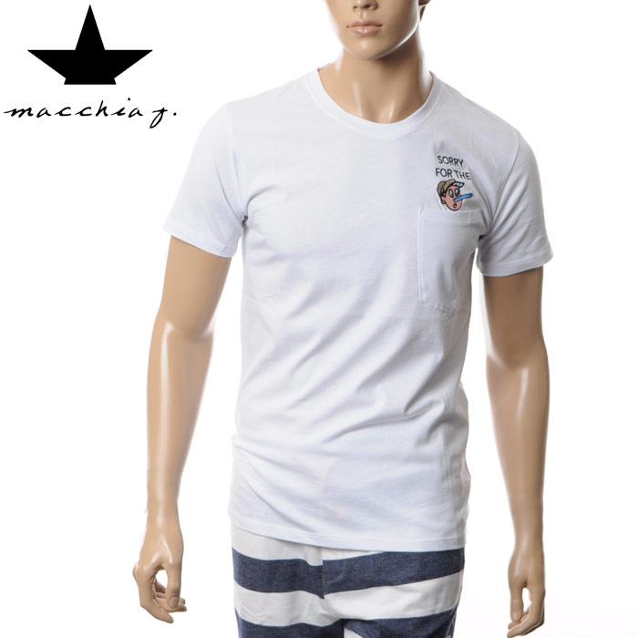 マッキアジェイ Macchia J クルーネックTシャツ メンズ 半袖 MJTS16 02 ホワイト