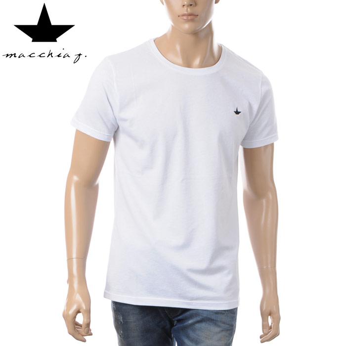マッキアジェイ Macchia J クルーネックTシャツ 半袖 メンズ BTS17BEACHTE ホワイト