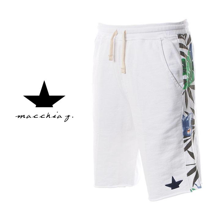 マッキアジェイ Macchia J ショートパンツ スウェットパンツ メンズ FMS1705 ホワイト