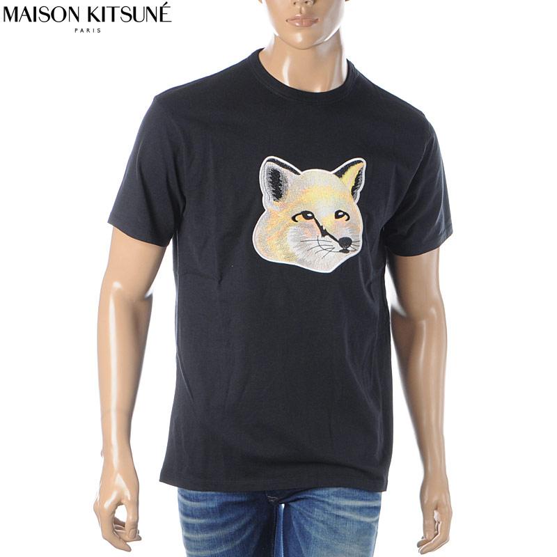メゾンキツネ MAISON KITSUNE クルーネックTシャツ 半袖 メンズ EM00153KJ0010 ブラック 2020春夏新作