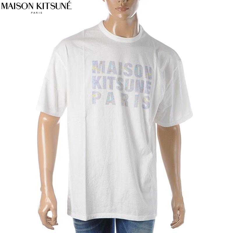メゾンキツネ MAISON KITSUNE クルーネックTシャツ 半袖 メンズ EU00137KJ0010 ホワイト 2020春夏新作