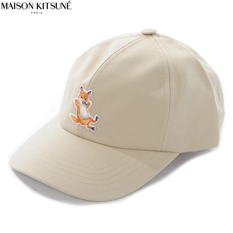 メゾンキツネ MAISON KITSUNE ベースボールキャップ 帽子 メンズ EU06114WT0006 ベージュ 2020春夏新作