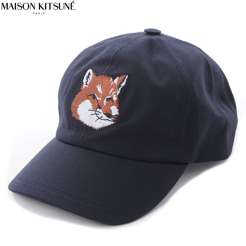 メゾンキツネ MAISON KITSUNE ベースボールキャップ 帽子 メンズ EU06118WW0007 ネイビー 2020春夏新作