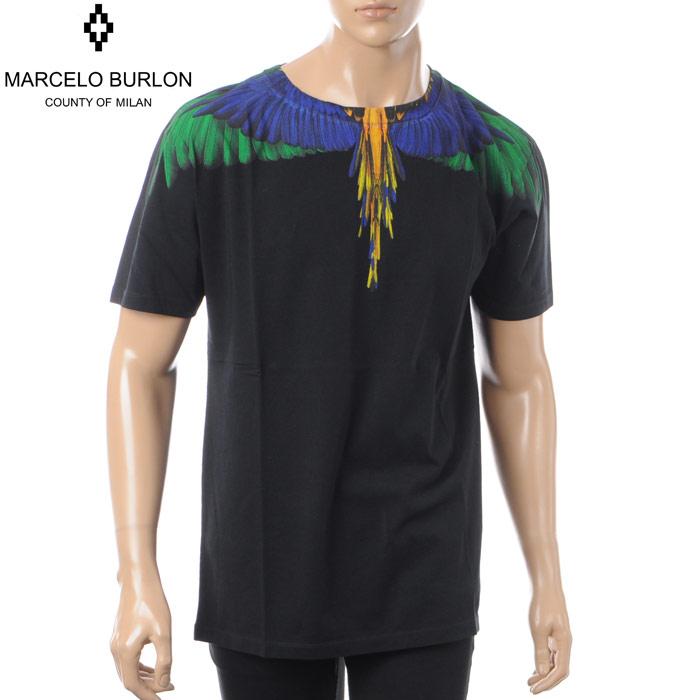 マルセロバーロン MARCELO BURLON クルーネックTシャツ 半袖 メンズ CMAA018S180010041088 ブラック