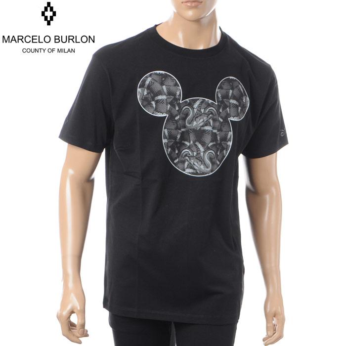 マルセロバーロン MARCELO BURLON×DISNEY クルーネックTシャツ 半袖 メンズ CMAA018S180011841088 ブラック