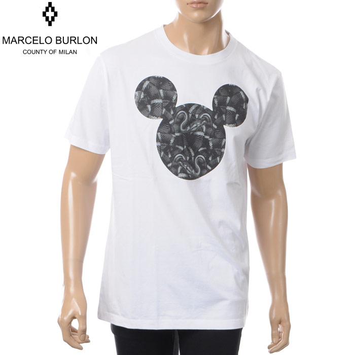 マルセロバーロン MARCELO BURLON×DISNEY クルーネックTシャツ 半袖 メンズ CMAA018S180011841088 ホワイト