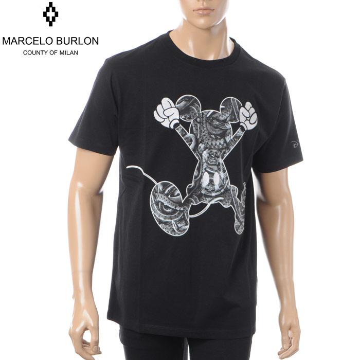 マルセロバーロン MARCELO BURLON×DISNEY クルーネックTシャツ 半袖 メンズ CMAA018S180011921088 ブラック