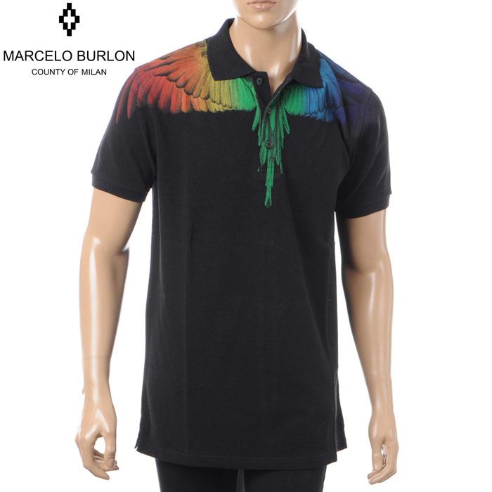【2018秋冬新作】 マルセロバーロン MARCELO BURLON ポロシャツ ポロシャツ BURLON ブラック 半袖 メンズ CMGB001S181950071088 ブラック, オクシリグン:ea68d7de --- wap.pingado.com