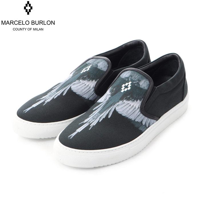 マルセロバーロン MARCELO BURLON スニーカー スリッポン メンズ CMIA015E188570271006 ブラック 2018秋冬新作