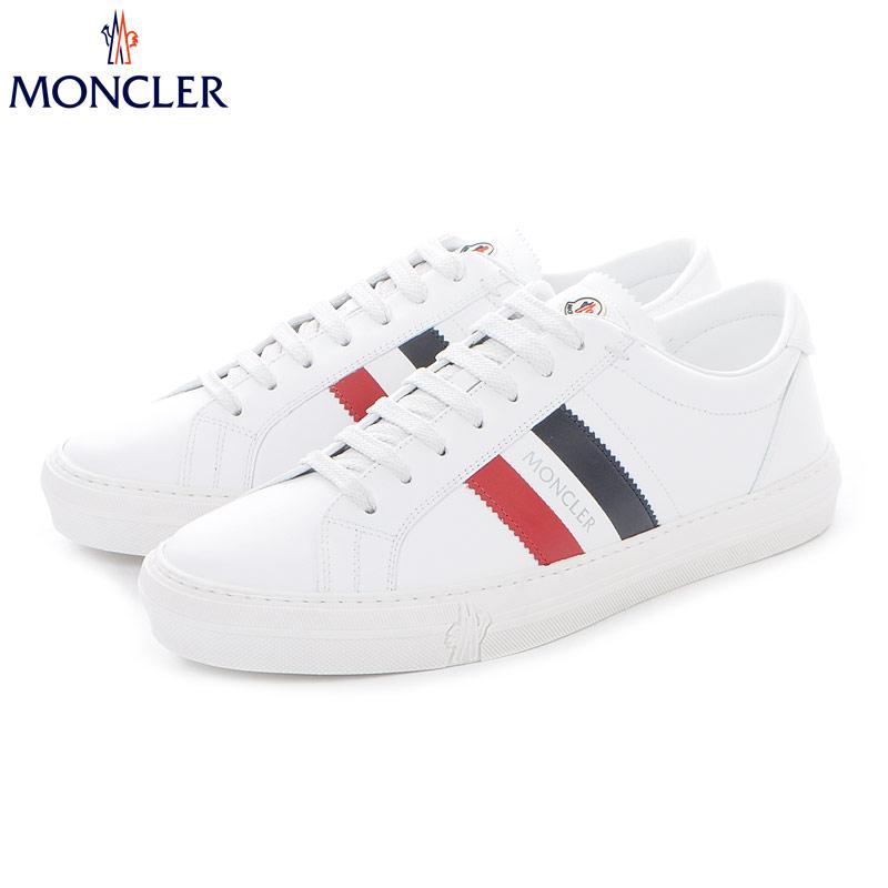 モンクレール MONCLER レザースニーカー ローカット メンズ NEW MONACO 1037600 01A9A ホワイト 2019春夏新作