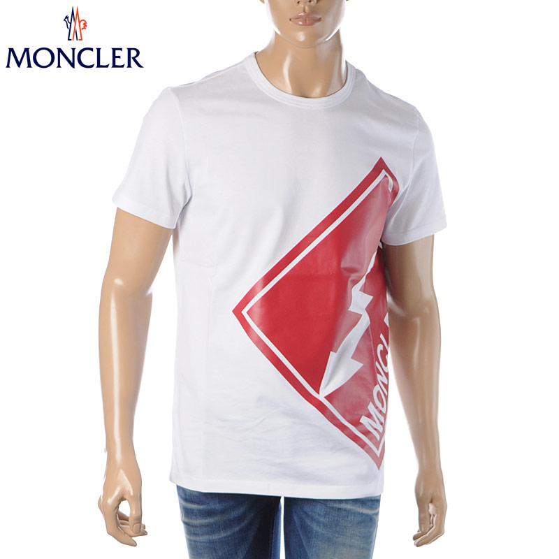 モンクレール MONCLER クルーネックTシャツ 半袖 メンズ 8C73510 8390T ホワイト 2020春夏新作