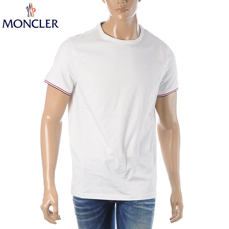 モンクレール MONCLER クルーネックTシャツ 半袖 メンズ 8C71600 87296 オフホワイト 2020春夏新作
