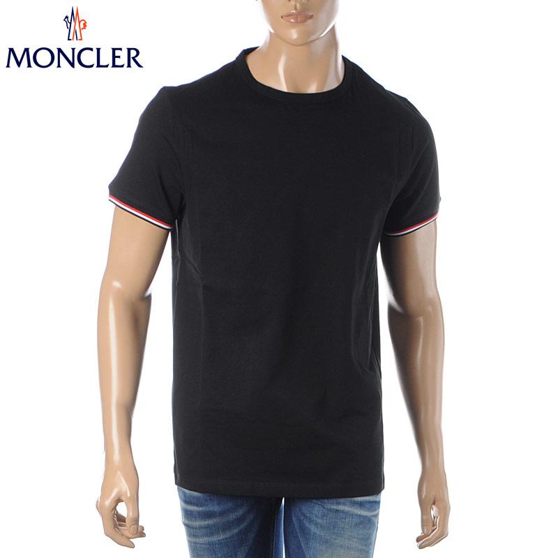 モンクレール MONCLER クルーネックTシャツ 半袖 メンズ 8C71600 87296 ブラック 2020春夏新作