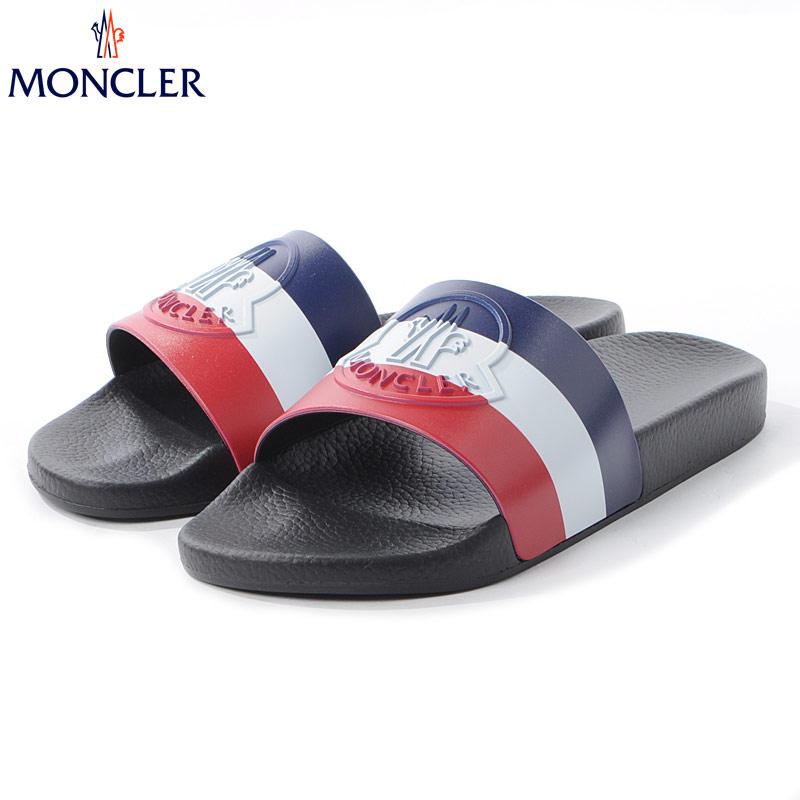 モンクレール MONCLER シャワーサンダル メンズ BASILE 4C70000 01A49 ブラック 2020春夏新作