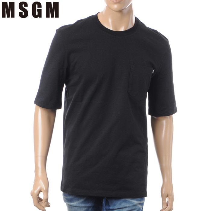 エムエスジーエム MSGM クルーネックTシャツ 半袖 メンズ 2440MM71 ブラック