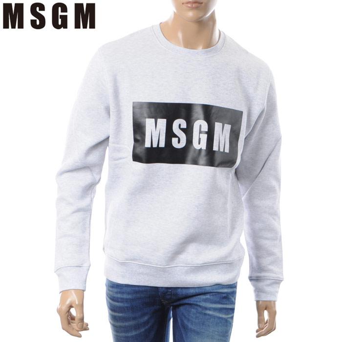 エムエスジーエム MSGM クルーネックスウェット トレーナー メンズ 2540MM68 グレー