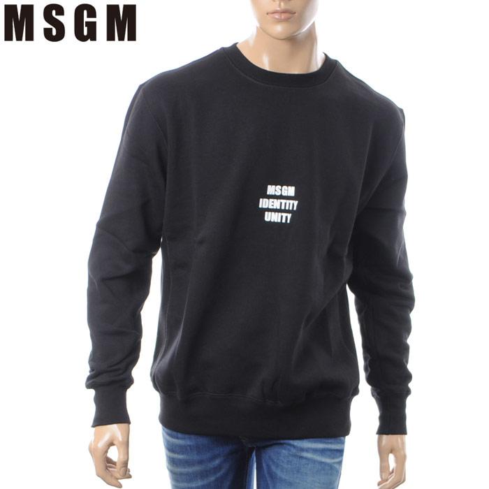 エムエスジーエム MSGM クルーネックスウェット トレーナー メンズ 2540MM66 ブラック