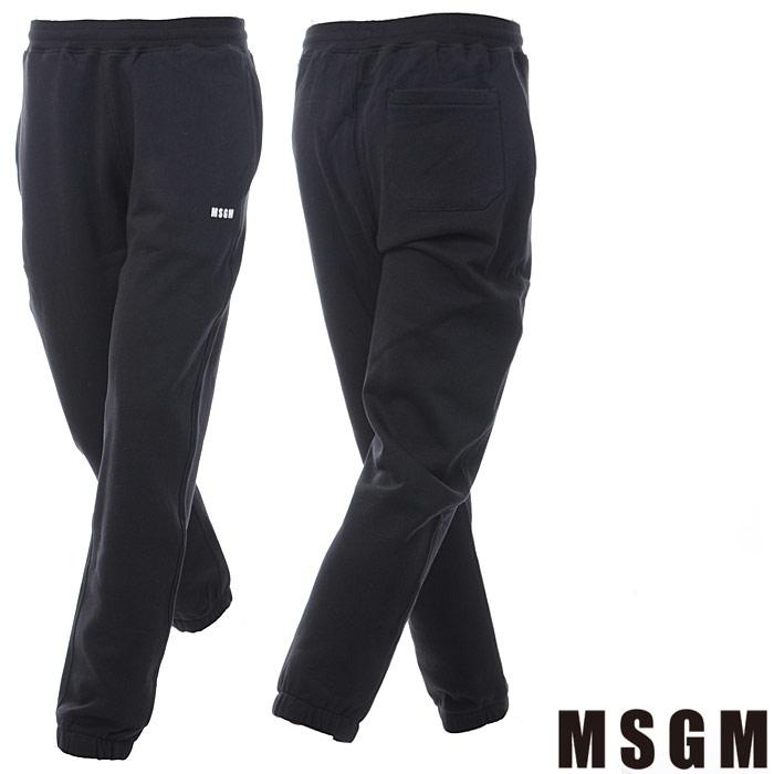 MSGM エムエスジーエム スウェットパンツ メンズ エムエスジーエム MSGM スウェットパンツ メンズ 2540MP62 ブラック