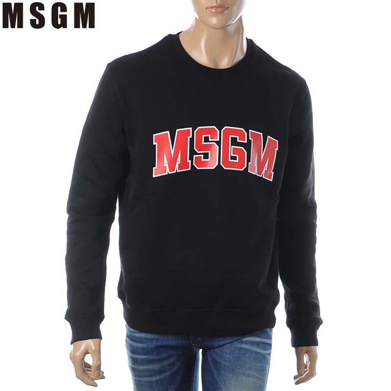 エムエスジーエム MSGM クルーネックスウェット トレーナー メンズ 2740MM178 ブラック