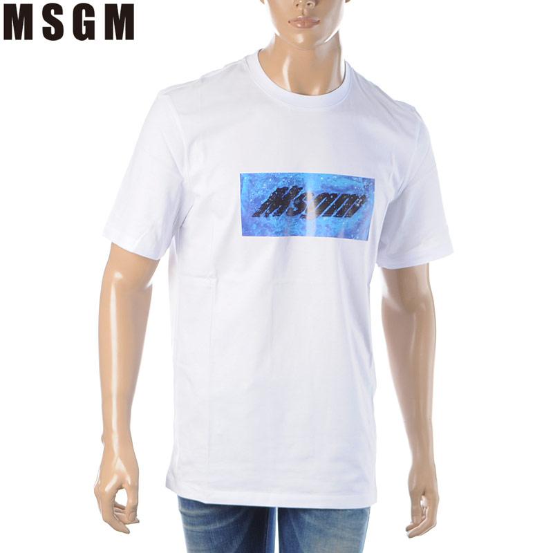 エムエスジーエム MSGM クルーネックTシャツ 半袖 メンズ 2840MM230 207098 ホワイト 2020春夏新作