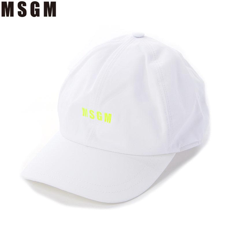エムエスジーエム MSGM ベースボールキャップ 帽子 メンズ 2840ML06 207271 ホワイト 2020春夏新作