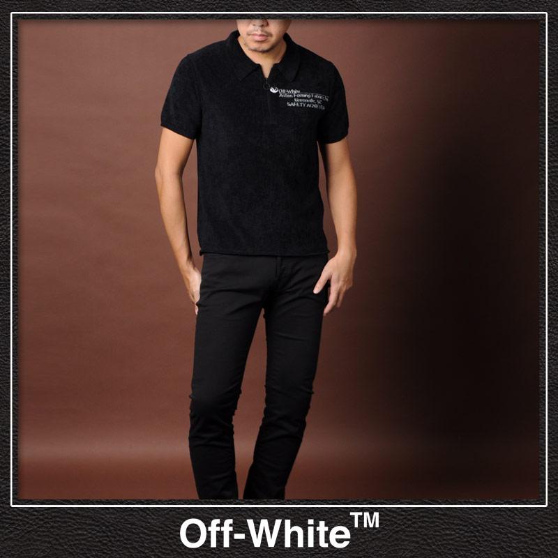 オフホワイト OFF WHITE ポロシャツ 半袖 メンズ OMHA044S188930731001 ブラック