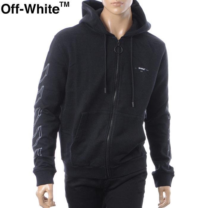 オフホワイト OFF WHITE ジップアップパーカー メンズ DIAG 3D LINE ZIP HOODIE OMBB033E18192002 ブラック